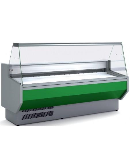Vitrina Refrigerada Expositora Cristal Recto Fondo 800 MAF-VED-8-R