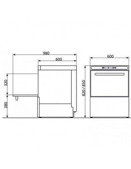 Lavavajillas Industrial Cesta 50x50cm CORDOBA500
