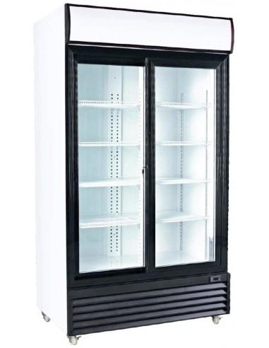 Armario Expositor Refrigerado 2 Puertas Correderas Vidrio CSD1000S