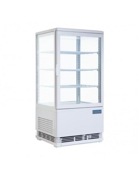 Vitrina Expositora Refrigerada Vertical Puertas Delantera Y Trasera 86 Litros CB507 Polar