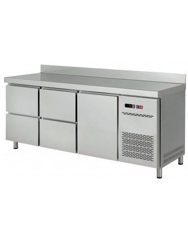 Mesa Snack Refrigerada con Cajones Fondo 600 MRCH-150-4