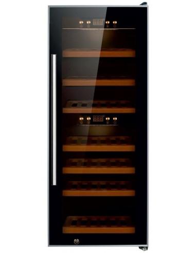 Armario de Vino de Doble Temperatura con Puerta de Vidrio W-50