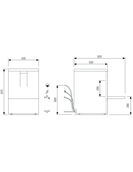 Lavavajillas Industrial con Cesta de 39x39cm CH400