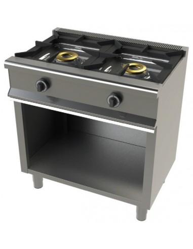 Cocina a Gas con Mueble de 2 Fuegos 8+8 KW Serie 550 6200/1