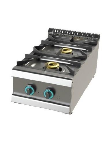 Cocina A Gas Sobremesa De 2 Fuegos 6+4,5 Kw Serie 700 FO7N200B