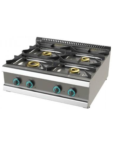 Cocina A Gas Sobremesa De 4 Fuegos 8+4,5+6+6 Kw Serie 700 FO7N400B