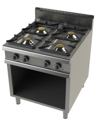 Cocina A Gas Con Mueble De 4 Fuegos 4,3+8,3+10+8,3 Kw Serie 900 FO9C400
