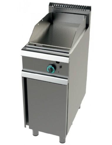 Fry Tops A Gas Acero Laminado Placa Lisa Con Mueble Serie 900 7,2KW FT9C00L