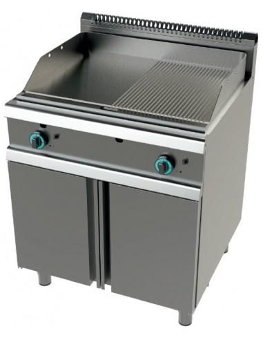 Fry Tops A Gas Acero Laminado Placa Lisa Con Mueble Serie 900 14,4KW FT9C0LL