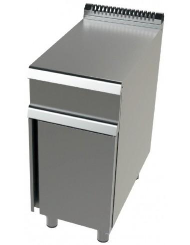 Mueble Neutro De Acero Inoxidable 1 Puerta Serie 700 BA7N400