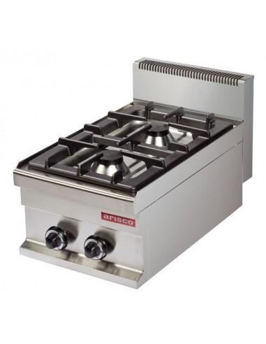 Cocina A Gas Sobremesa 2 Fuegos 6+6Kw Serie 700 GR711S