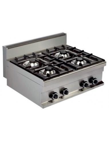 Cocina A Gas Sobremesa 4 Fuegos 4X6Kw Serie 700 GR721S