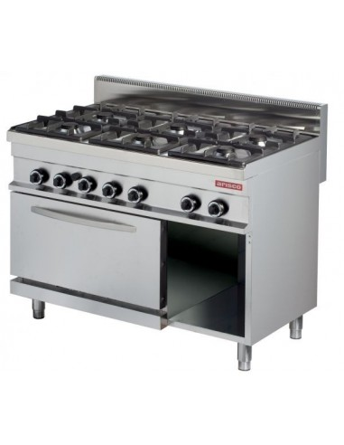 Cocina A Gas 6 Fuegos 6X6Kw Con Horno De 6Kw Serie 700 GR732