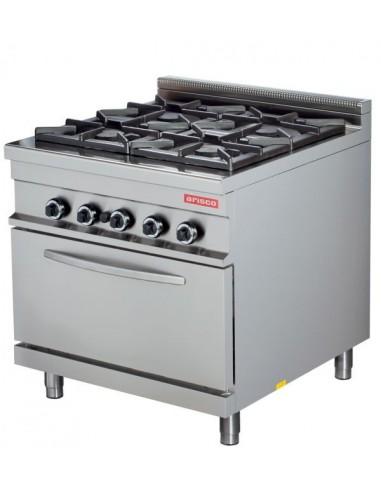 Cocina A Gas 4 Fuegos 4X8Kw Con Horno 7,5Kw Serie 900 GR922
