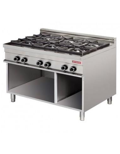 Cocina A Gas 6 Fuegos 6X8Kw Serie 900 GR931