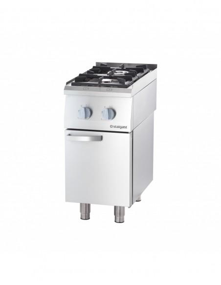 Cocina a gas sobremesa 2 fuegos 400x700x250h mm 3,5+7 Kw Línea Varsovia