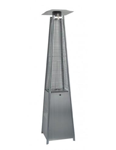 Estufa Exterior para Terraza con Diseño en Pirámide de 13kw color plata
